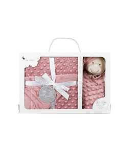 Bubbles Blanket and Dou Dou Pink Make-up Bear