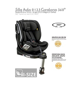 Car Seat 0 1 2 3 Ares Rotating 360º ISIZE Black