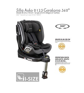 Car seat 0 1 2 3 Ares rotating 360º ISIZE Gray