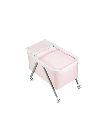 Aluminium Crib Pink Strippes