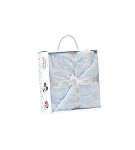 Lamb Skin Blanket - 80 X 110 - Coral Flecce - Mod. Disney - Blue