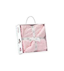 Lamb Skin Blanket - 80 X 110 - Coral Flecce - Mod. Disney - Pink