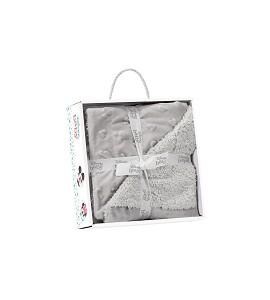 Lamb Skin Blanket - 80 X 110 - Coral Flecce - Mod. Disney - Gray