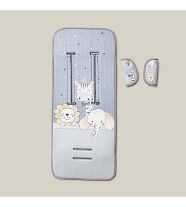 Cover For Pram 83X33-Breathable/Cotton Mod Animalitos