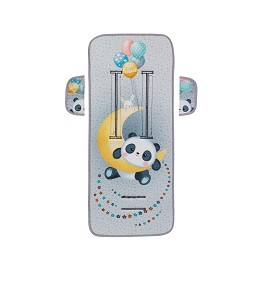 Cover For Pram 83X33-Breathable/Cotton Mod Panda Grey
