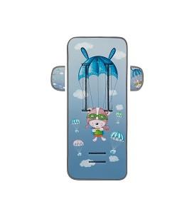 Cover For Pram 83X33-Breathable/Cotton Mod Paracaidista Blue