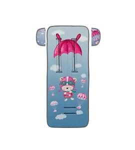 Cover For Pram 83X33-Breathable/Cotton Mod Paracaidista Pink