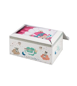 Trunk Textile set and Duvet Cover Pink Paratrooper