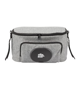 Gray Nappy Bag for Stroller