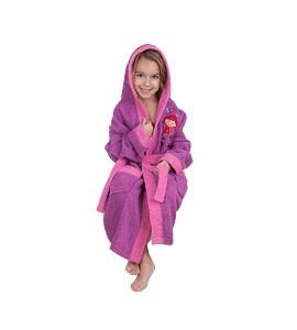Bathrobe - 100% Terry Cotton - Size - 2-4 - Violet