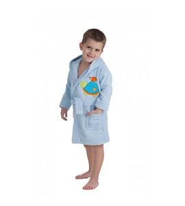 Albornoz Algodón Azul 6-8 Años