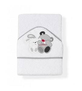 Capa de Baño Amigos Blanco Gris