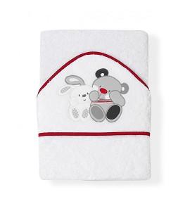 Capa de Baño Amigos Blanco Rojo