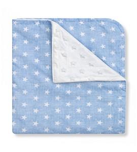 Baby Blanket Star Blue