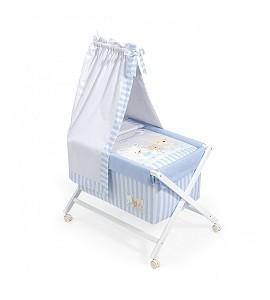 Minicuna Dosel Love Azul con Textil