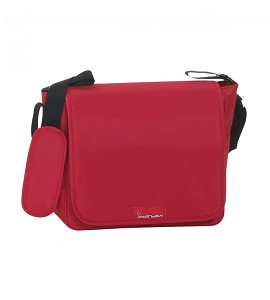 Nappy Bag - 32X14X31 - With Changing Mat Plastified - Red