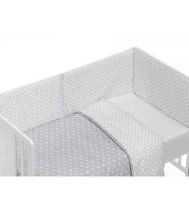 Mod. Star Set For Cot Bed With Duvet - Gray