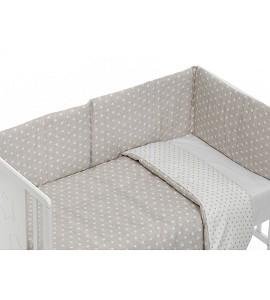 Mod. Star Set For Cot Bed With Duvet - Beige