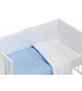 Mod. Star Set For Cot Bed With Duvet - Blue