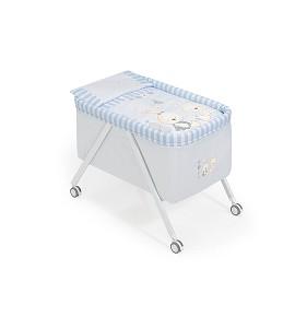 Minicuna Aluminio Conejito Baby Azul