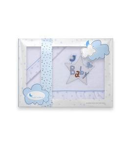 Sábanas Minicuna Coralina Baby Blanco Azul