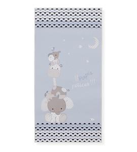Alfombra Infantil Papis Felices Azul 50x100