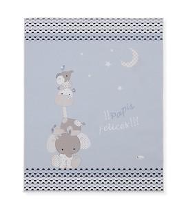Alfombra Infantil Papis Felices Azul 90x110