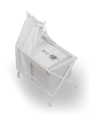Bassinet White + Textil + Canopy For Bassinet - Mod.Papis Felices Beig