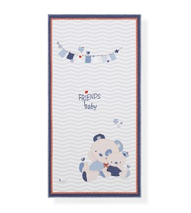 Alfombra Infantil Friends Baby Azul 50x100