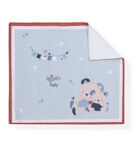 Receiving Blanket Friends Baby Blue