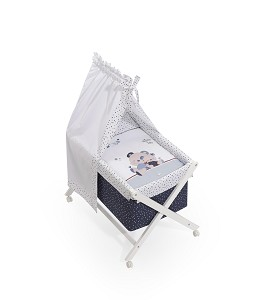 Minicuna Dosel Friends Baby Azul con Textil
