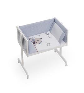 Cosleeping Bassinet +Coordinated Set Friends Baby Blue
