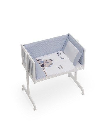 Minicuna Colecho con Textil Friends Baby Azul