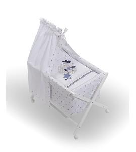 Minicuna Dosel Amorosos Azul con Textil