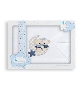Sábanas Coche Amoroso Blanco Azul