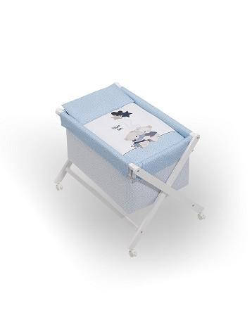 Minicuna Volamos Baby Azul con Textil