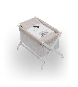 Minicuna Volamos Baby Beige con Textil
