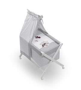 Minicuna Dosel Volamos Baby Gris con Textil