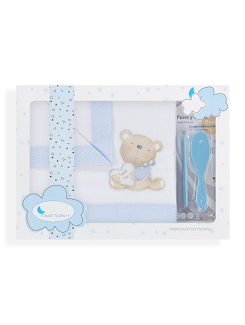 S/ábanas minicuna 100/% algod/ón S/ábanas Minicuna Oso Cari/ñoso Blanco Azul