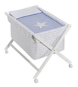 Minicuna Estrella Azul con Textil