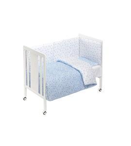 Cuna Monet Premium con Textil Corona Azul