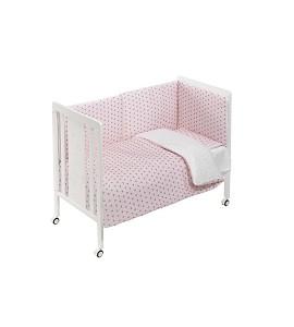 Cuna Monet Premium con Textil Estrella Mar Rosa