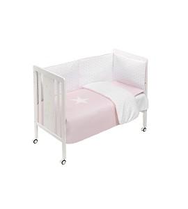Cuna Monet Premium con Textil Estrella Rosa