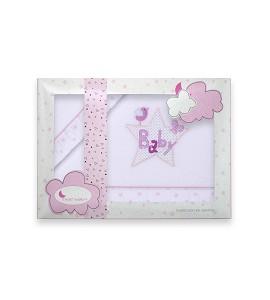 Sábanas Coche Coralina Baby Blanco Rosa