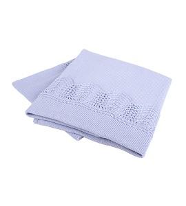 Draft Blanket Blue Cotton