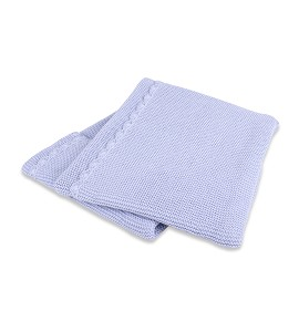 Basic Blanket Blue Cotton