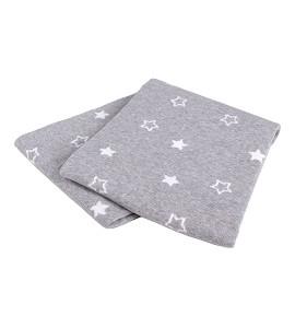 Star Blanket White and Grey Cottton