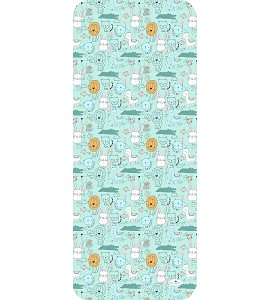 Cover For Pram 83X33 - Breathable/Cotton - Mod. Animals - Green