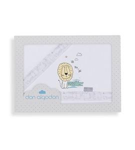 3 Pcs Bedding Cot 60X120(Sheet152X102+Fitted S.120X60X12+Case60X30)Cotton - Mod. Indara