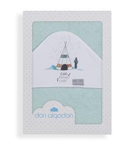 Don Algodón Bath Cape Green Dakota
